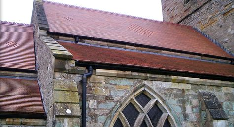 A church roof installed by our team